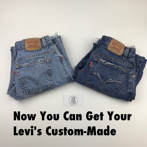 Levi's Denim - Vintage Levi's Custom Made Orange Tab Re/Done Jean